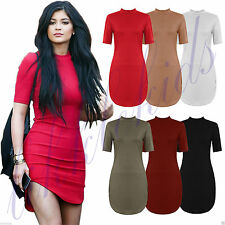 Casual Viscose Stretch, Bodycon Petite Size Dresses for Women