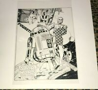 Star Was Han Solo Luke Skywalker R2D2 C3P0 pin up Production Art Acetate page