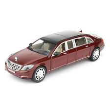 1:24 Mercedes Maybach S600 Limousine Car Model Alloy Diecast Toy Vehicle Red Kid