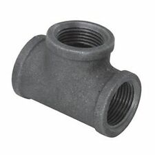 "1/2"" BLACK MALLEABLE IRON TEE 3-WAY PLUMBING FITTING PIPE NPT"