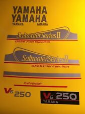 Yamaha 250hp OX66 Saltwater Series II Outboard Decals FREE SHIPPING