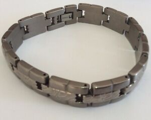 "Gents Men's Very Nice TITANIUM Ornate Link Bracelet Jewellery 8.5"""