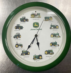 John Deere Tractor Wall Clock With Tractor Sounds On The Hour Works Green