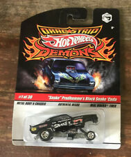 Hot Wheels Dragstrip Demons - Snake Prudhomme's Black snake 'Cuda - 1:64 NOC