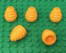 Lego X5 Pieces New City Bright Light Orange Mini Figures Beehive / Hat Parts Lot