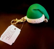 Bath and Body Works Pocketbac Holder Green Santa Holiday Hat with Bell *RETIRED*