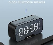 New Bluetooth Alarm Digital Clock Mirrored MP3 FM Radio Speaker