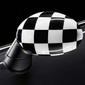 OEM Mini Cooper Driver & Passenger Side Mirror Covers Checkered F55 F56 F54 F57