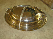 Eales 1779 Silverplate Tray Server with Handler Cover