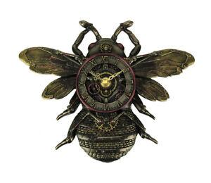 Steampunk Style Bronze Finish Honeybee Wall Clock