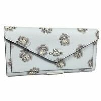 Coach  Wallet With Sky Rose Print/Silver