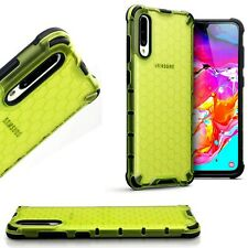Samsung Galaxy A70 Shockproof  Fitted Case Bumper Honeycomb   Green  REVX