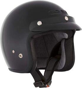 Solid MATT BLACK CKX VG200 Open-Face Helmet 153705XX X-LARGE 779422586057
