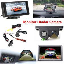 "Car Reverse Parking Rearview Camera & Radar Alarm System 4.3"" HD Display Monitor"