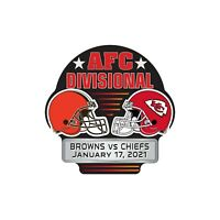 2021 CLEVELAND BROWNS VS. KANSAS CITY CHIEFS AFC DIVISIONAL PIN SUPER BOWL LV ??