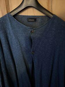 Eskandar Blue Cardigan Fits XL