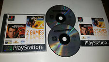 Playstation One Game TOMORROW NEVER DIES + WORLD IS NOT ENOUGH BOND DOUBLE PS1