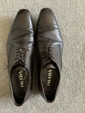 Men's Brown Leather Prada Lace Up Shoes Size 11