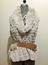 Cuddly Size AU 14 Women's Classy Fur Vest With Adjustable Belt & Pockets