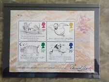 Gb 1988 Edward Lear Miniature Sheet Ms140 00004000 9: Mint, in case, with notes