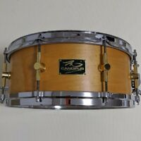 "CANOPUS 14""x5.5"" Maple Snare Drum MO-1455 Natural Japan Used"
