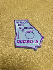 Georgia Souvenir Fridge Magnet - Baby Blue W/Purple