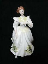 ROYAL DOULTON PRETTY LADIES JANUARY FLOWERS FIGURE OF THE MONTH HN 2797