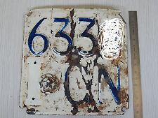 MOTO GUZZI 160 cc 1950 TARGA CUNEO ORIGINALE PER SOLO USO COLLEZIONISTICO