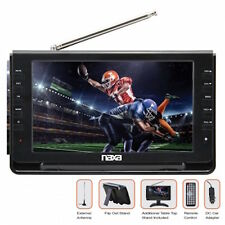 "NAXA Portable 9"" Flat LCD TV With USB and SD Card Slot AC and DC Car Cord NEW"