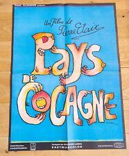 PAYS DE COCAGNE Affiche cinéma 60x80 PIERRE ETAIX, MICHEL LEWYN, BIRAUD