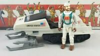 Original 1983 GI JOE POLAR BATTLE BEAR w/ FROSTBITE V3 ARAH not COMPLETE vehicle