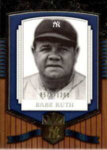 2003 Upper Deck Classic Portraits #212 Babe Ruth BBR #/1200 BX 1SS