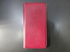 Auth Louis Vuitton Epi iPhone X Folio M64468 Phone Case Fuchsia 92187