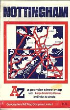 Nottingham Premier AZ Street Plan 3.5 ins per Mile Geographers  Maps Index c1982