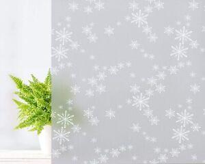 """Snowflake Glass Window Film, No Glue Static Cling Window Sticker 17.7""""x78.7"""""""