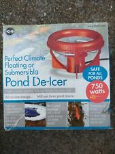 K&H Pet Thermo-Pond Perfect Climate Deluxe Pond De-Icer 750 Watts. New in Box