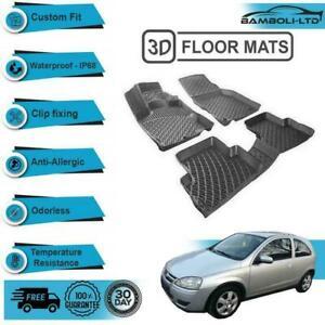 3D Molded Interior Car Floor Mat for Opel Corsa-C 2001-2005(Black)