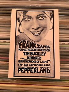 frank zappa - cartolina postcard - originale dell' epoca perfetta nuova