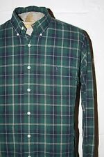 Polo Ralph Lauren Blake Fit Green Blue Tartan Plaid Button Front Casual Shirt L