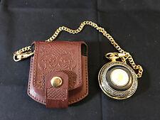 Franklin Mint The Alaska Chilkat Bald Eagle Preserve Pocket Watch W/Case Black