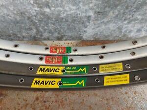 Vintage French Mavic sets (4) Module E, MA 40 clincher rims rimset 36/32 h