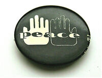 Race Relation Protest Black & White Hands Peace 1966 Button Pin NOS New Original