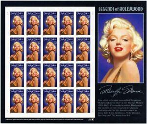 2967a, MNH 32¢ Marilyn Monroe Complete Imperforate ERROR Pane of 20 Stuart Katz