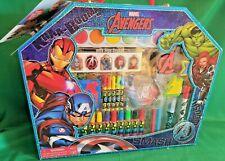 Marvel Avengers Art Case ~ Stickers, Color, Paint, Stamp & Design ~ New/Sealed