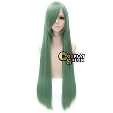 Anime 100CM Long Straight Women Light Green Fashion Party Hair Cosplay Wig+Cap