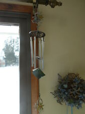 "New Kara'S Creations 24"" Windchime Butterfly& Flower Stained Glass"