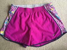 Nike Pacer Womens  Small Dri Fit Running Shorts Printed Mesh Panel Fuscia Pink