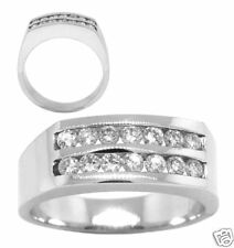 0.75ct H-I MENS ROUND DIAMOND RING 14kt WHITE GOLD