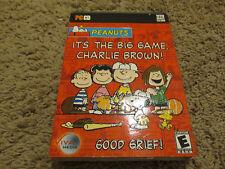 Peanuts It's The Big Game Charlie Brown VISTA WIN 7 PC MAC FULL VRSN NEW GIFT QL