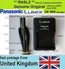 Original Panasonic LUMIX charger DE-994 DMC-FZ5 DMC-FZ7 DMC-FZ8 DMC-FZ18 FZ50